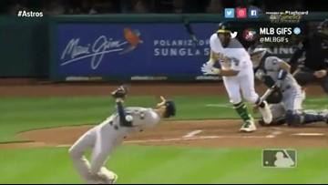 Watch: Collin McHugh dodges baseball like 'The Matrix'