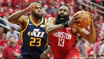 Harden's triple-double helps Rockets rout Jazz again