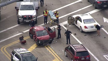 Innocent person injured when chase ends in crash in west Harris County