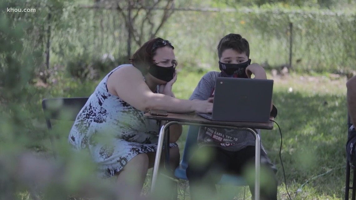 Texas families struggle with digital divide for virtual learning