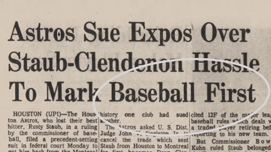 Strange but true: Astros' trade war with Montreal Expos over Donn Clendenon
