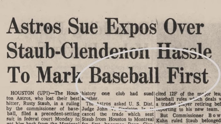 Strange but true: Astros' trade war with Montreal over Donn Clendenon
