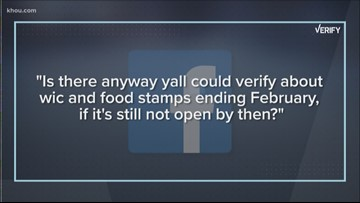 Verify: What will happen to food stamps if shutdown continues?
