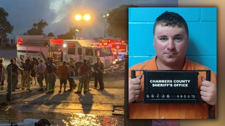 Jacob Vernon Breaux, 23, of Baytown in Chambers County was arrested and jailed on three counts of intoxication manslaughter with a vehicle