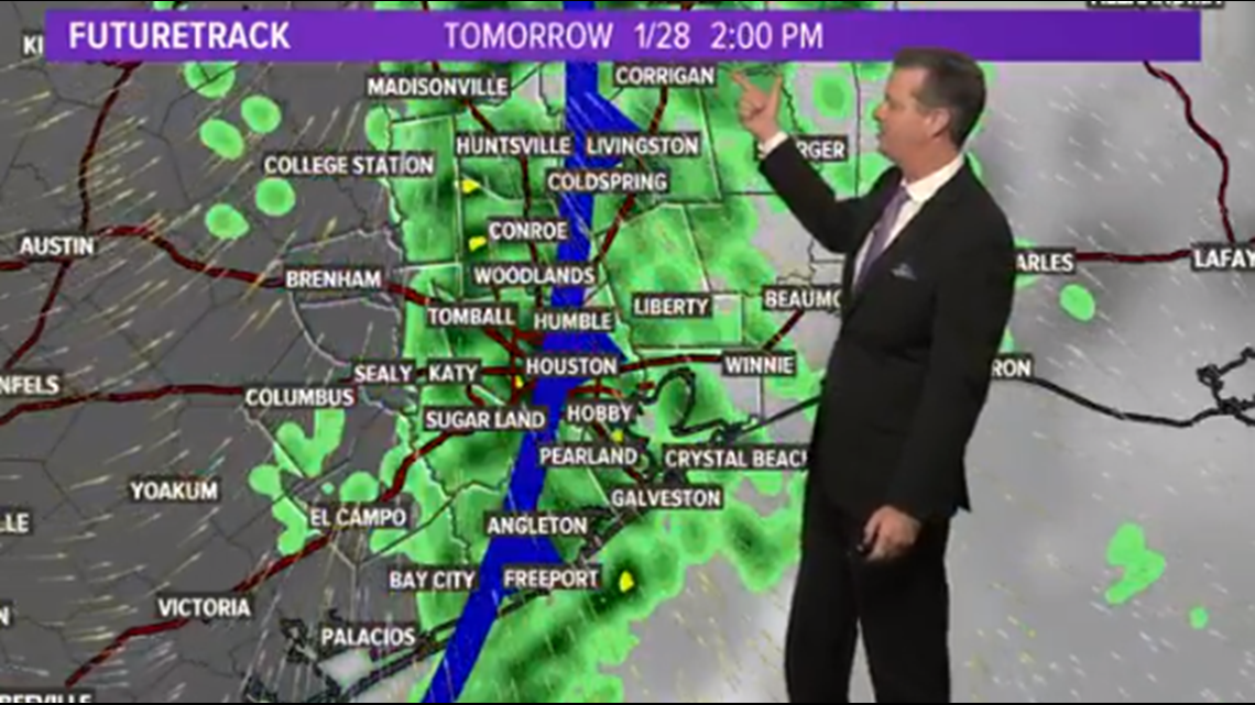 Houston Forecast: Expect a Wet Tuesday Morning Commute