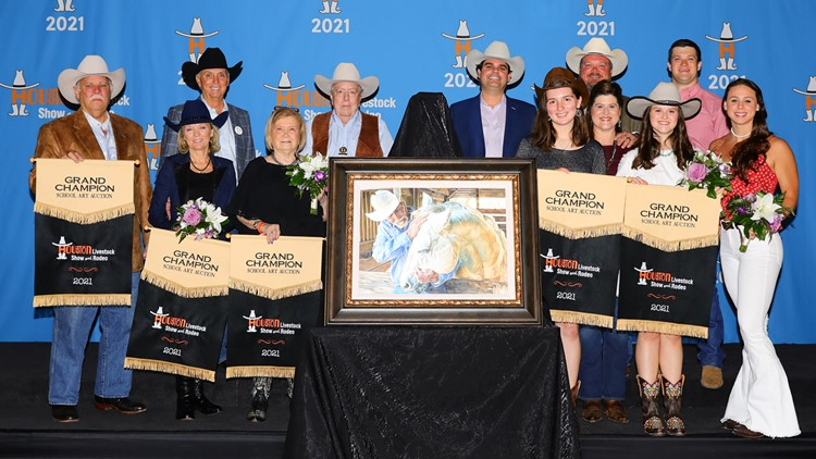 Rodeo Houston student art champions fetch $275,000 at auction