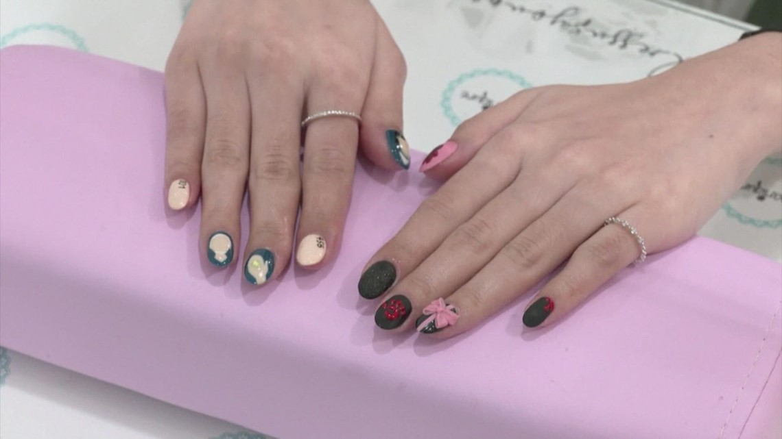 Malaysian salon designing nails inspired by Netflix's 'Squid Games'