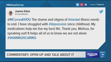 KHOU 11 Reporter Melissa Correa opens up about her personal issues with mental health