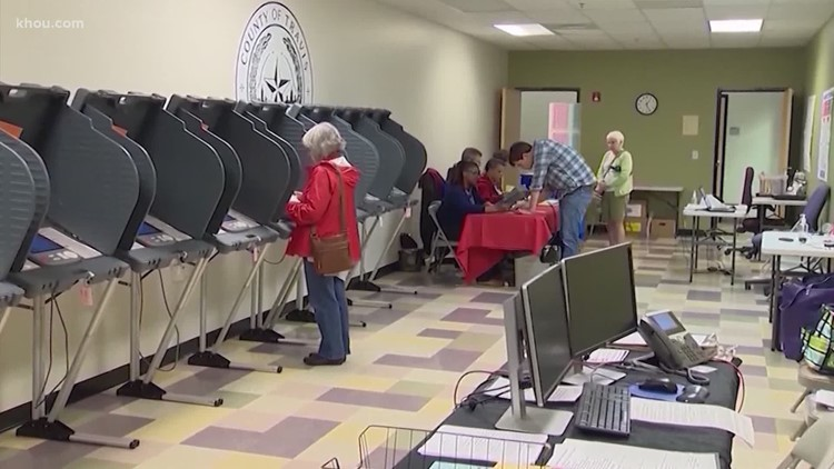Some Houston-area polling locations will stay open for 36 hours straight
