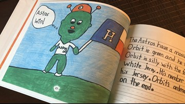 First-graders write book about 'All Things Astros,' and they're hoping to get Ellen's attention