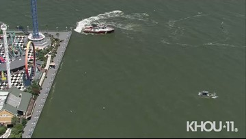 U.S. Coast Guard searches Galveston Bay for missing Kemah Boardwalk worker