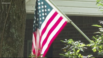 American flags have special meaning to Baytown family