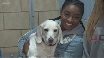 Simone Biles helps no-kill dog shelter
