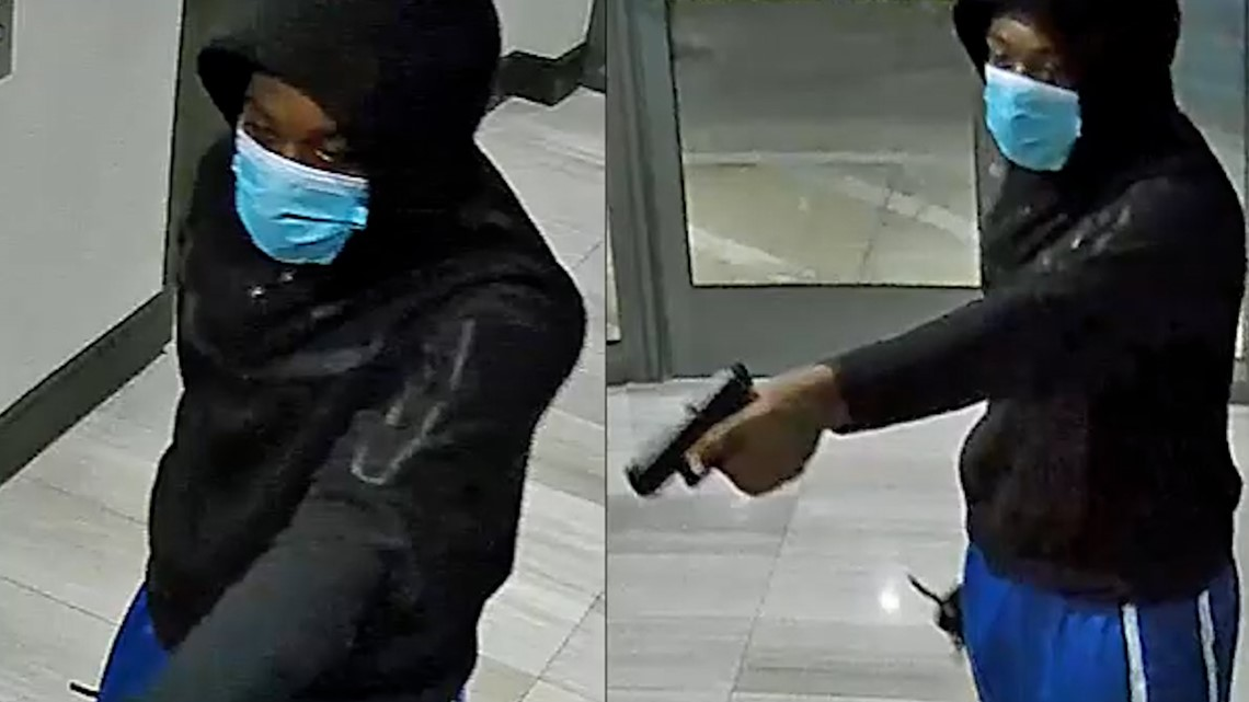 Watch: Robber forces victims to the ground in downtown Houston apartment building