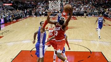 Harden nets 44 in triple-double, Rockets beat 76ers 118-108