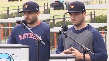 'I'm really sorry' | Altuve, Bregman, Springer apologize for Astros sign-stealing scheme