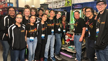 Robotics championship today. Mission to Mars tomorrow.