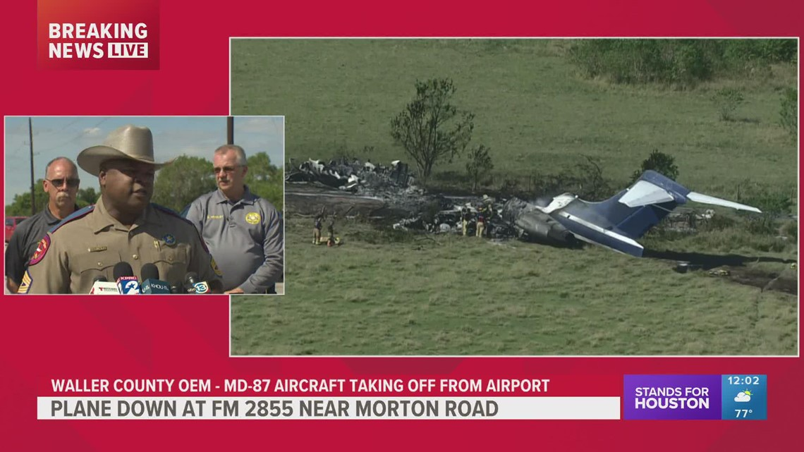 Waller County plane crash: DPS, county officials give update after jet engulfed in flames