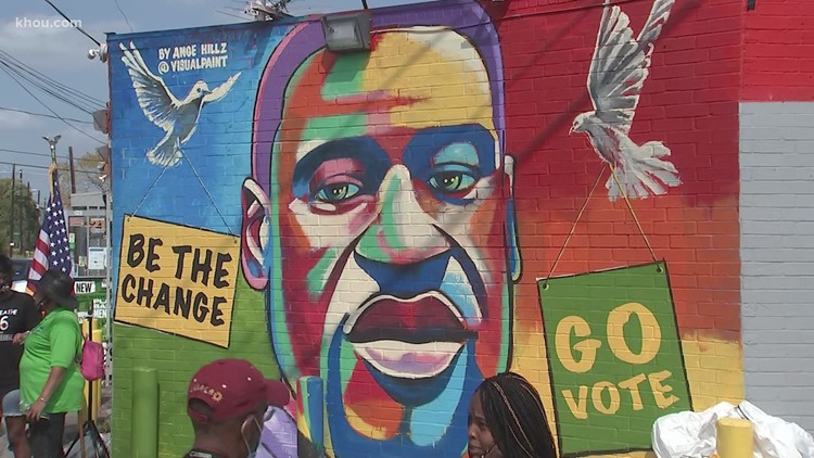 George Floyd mural unveiled in Houston ahead of his 47th birthday