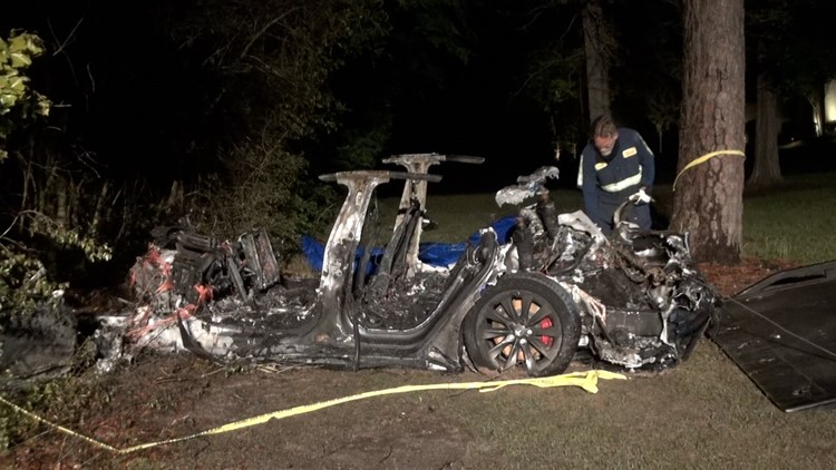 Second victim identified after fiery, deadly Tesla crash north of Houston