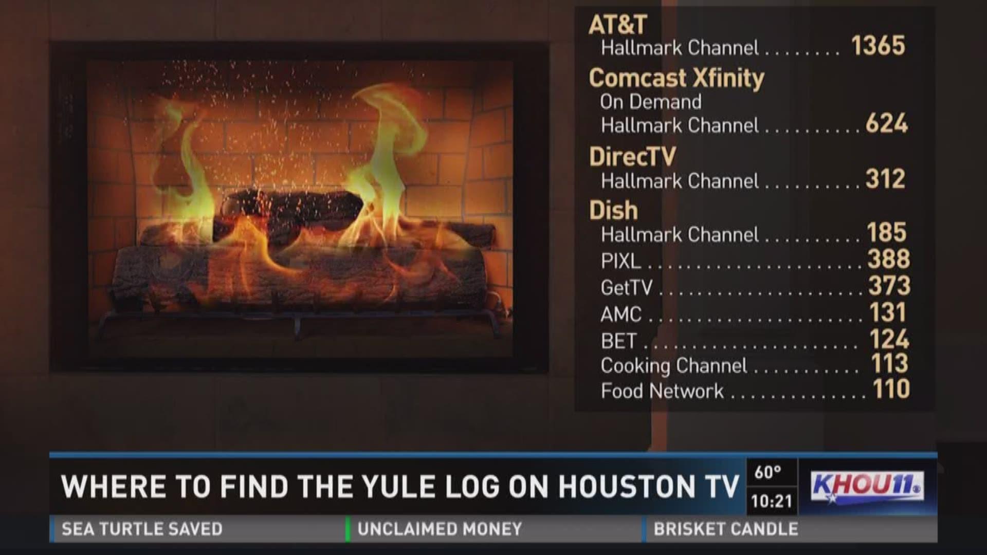 Where To Find The Yule Log On Houston Tv Khou Com