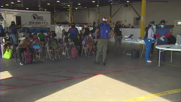 Houston shelter temporarily houses Haitian migrants