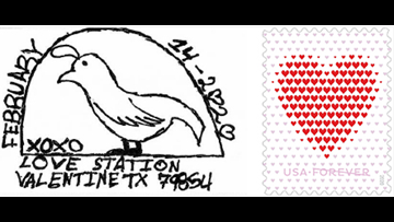 Send your loved ones Valentine's Day messages from Valentine, Texas