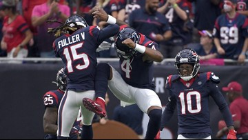 Watson throws five touchdown passes in Houston's 53-32 win over Atlanta