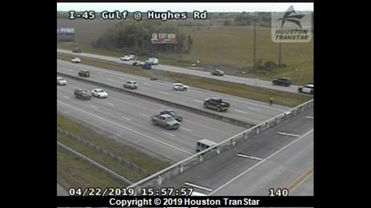 Lanes reopen on Gulf Freeway near Texas City after multi-vehicle