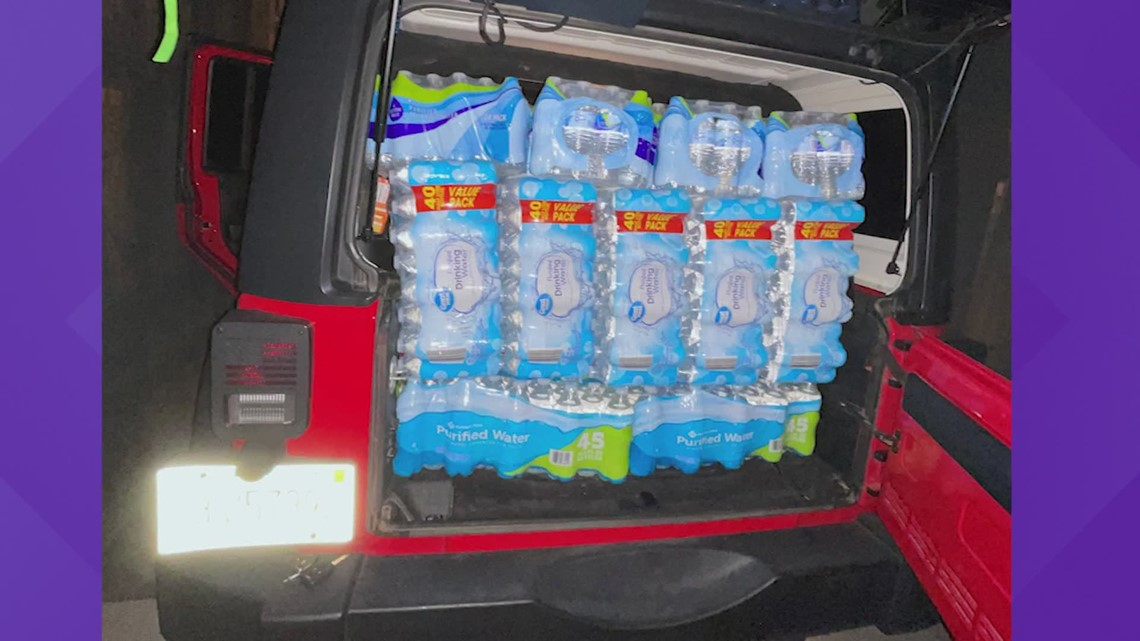Mississippi woman drives hours to deliver water to Houston after winter storm