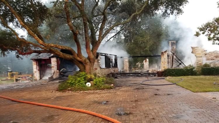 Buck house fire