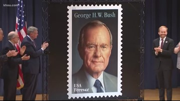 George H.W. Bush's Forever stamp issued on what would have been his 95th birthday