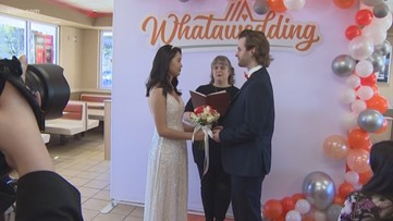 Whatawedding! Houston couple among 6 to get married at Whataburger on Valentine's Day