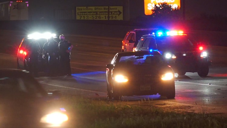 I-45 reopens after person is struck and killed early Tuesday | Raw scene video