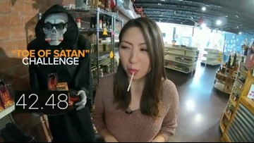 'Toe of Satan'   Lollipop is 900 times hotter than a jalapeno!