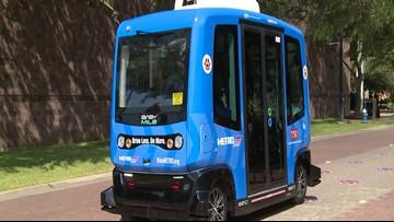It's official: Driverless shuttle carrying passengers around TSU