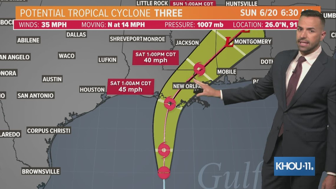 8:30 a.m. Gulf weather update: Potential tropical cyclone appears to be heading to Louisiana