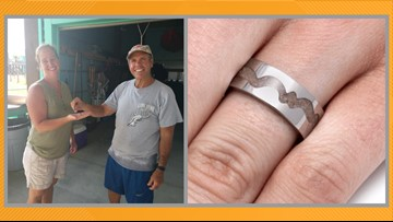 'Little miracle,' ring containing beloved dog's ashes found on Crystal Beach, returned to New Hampshire woman