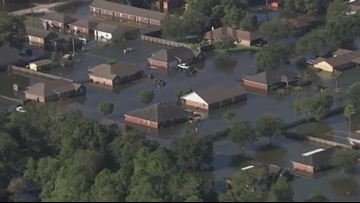Tour flood damage along I-10 from Houston to Beaumont