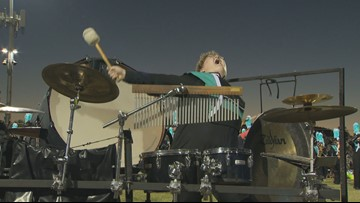 High school percussionist's passionate performance steals the show