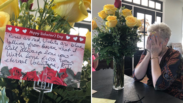 Debbie lost her husband to cancer, but he made sure she got one final Valentine's Day gift