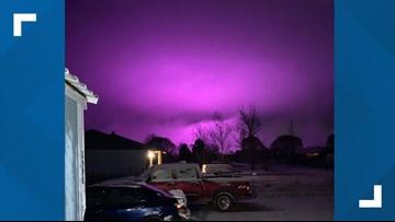 Medical marijuana farm lights create purple haze over Arizona town