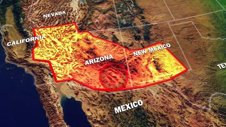 missing girl pollen region map texas