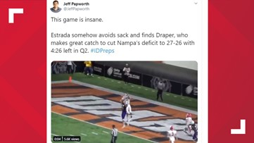 High school football player's incredible catch featured on ESPN