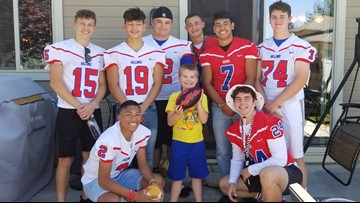 Idaho football team goes to boy's birthday party after finding out most of the people invited weren't coming