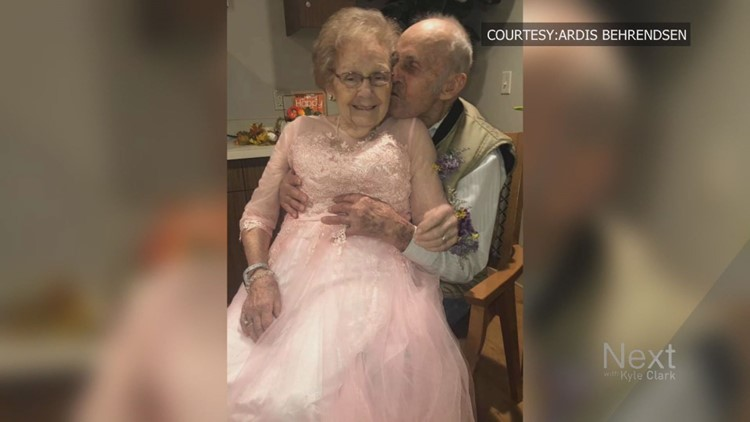 Colorado man lights up when he sees his wife of 72 years dressed up for their anniversary
