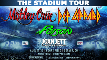 It's official! Mötley Crüe, Def Leopard, Poison and Joan Jett & The Blackhearts are coming to Minute Maid Park in 2020
