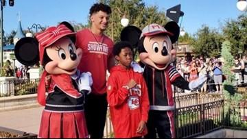 Make-A-Wish kid from Austin hangs out at Disney World with Super Bowl MVP Patrick Mahomes