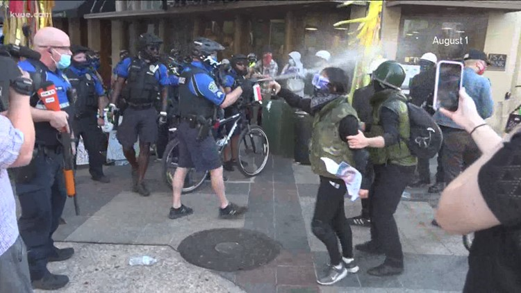 'Too many guns'   Austin protesters with assault-style rifles clash with DPS troopers in riot gear
