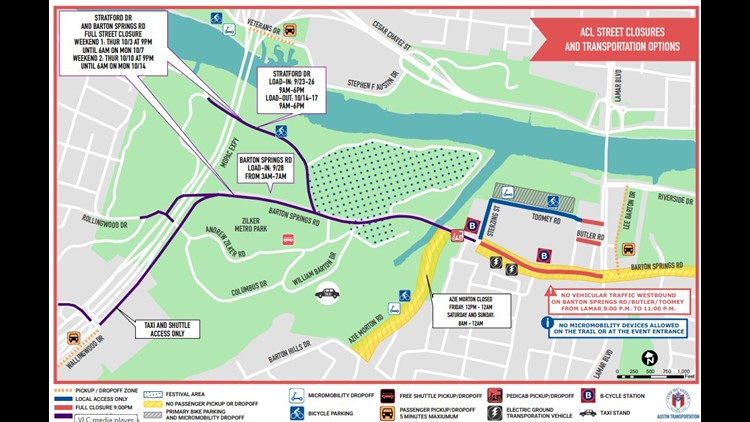 ACL street closures map